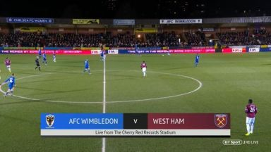 Full match: AFC Wimbledon vs West Ham United