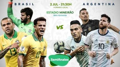 Full match: Brazil vs Argentina