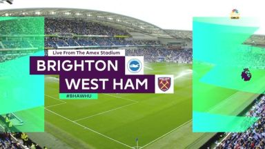 Full match: Brighton & Hove Albion vs West Ham United