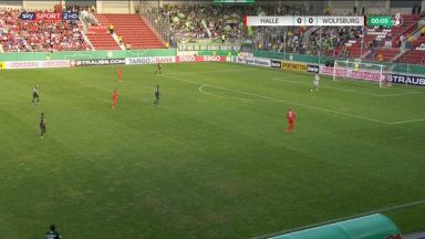Full match: Hallescher FC vs Wolfsburg