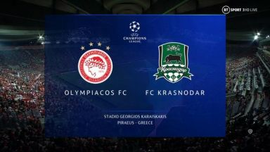 Full match: Olympiakos Piraeus vs Krasnodar