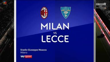Full match: AC Milan vs Lecce