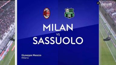 Full match: AC Milan vs Sassuolo