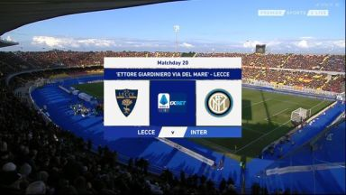 Full match: Lecce vs Inter Milan