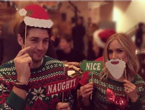 Instagram: December 2014 Ugly Sweater party (although there sweaters are not that ugly) to benefit the Jay Cutler Foundation.