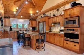 JJ Watt's Cabin Kitchen - Redfin Photo