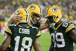 Aaron Rodgers, Randall Cobb & James Jones