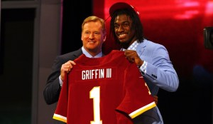 Roger Goodell and Robert Griffin III - Getty Images