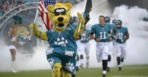 Jaguars Mascot on the Field