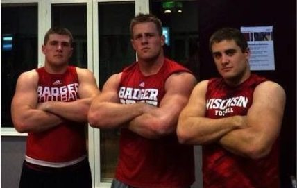 J.J., Derek and T.J. Watt