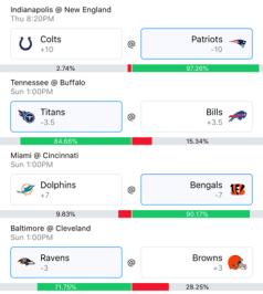 Week 5 NFL Picks 2018 - Wally 1