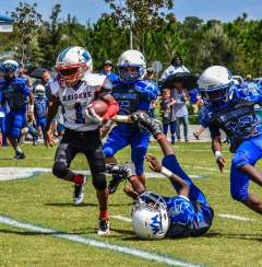 Jaden Brown aka Flo Rida had a awesome weekend rushing and playing defense for the win against West Melbourne in the 10U Division
