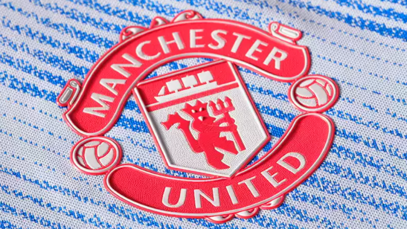 Club badge on the new Manchester United FC away shirt for season 2021/2022 (image copyright: Manchester United Football Club / manutd.com)