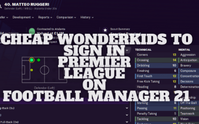 Cheap Wonderkids to Sign in Premier League on Football Manager 21