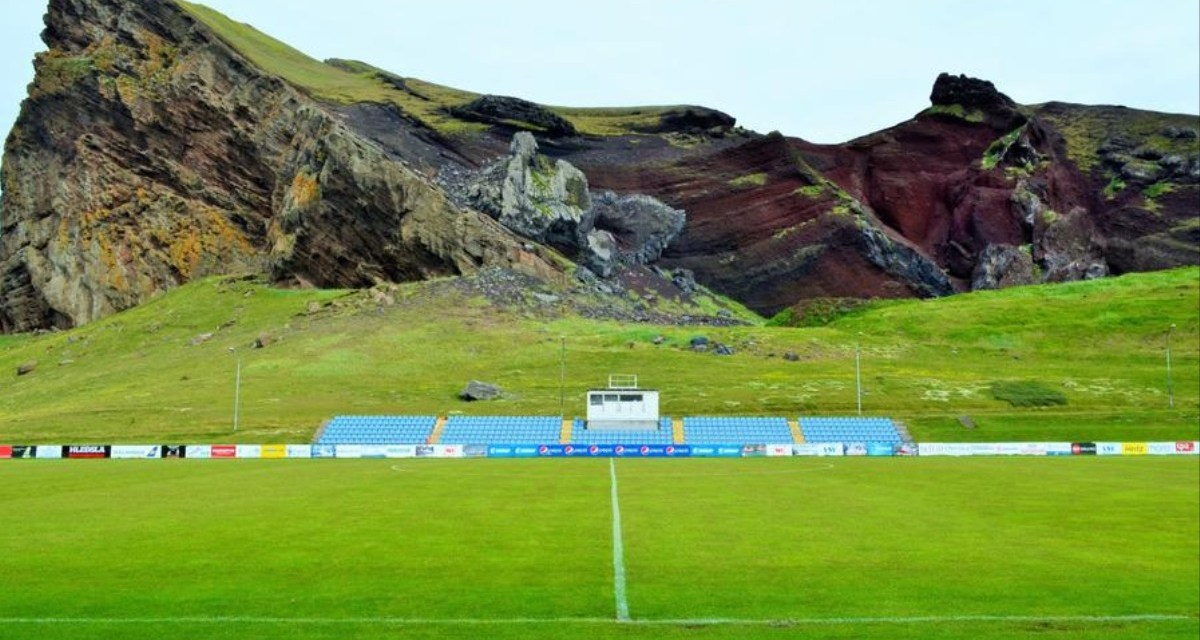 Football on Iceland's volcanic island of Heimaey