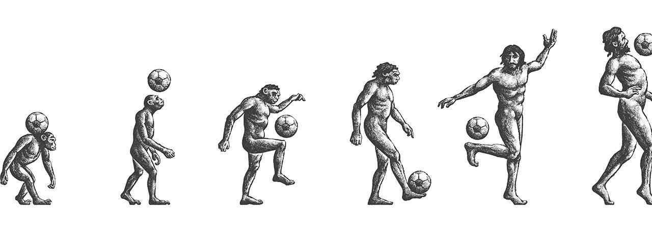 Homo passiens – Man the footballer, the missing link in evolution?