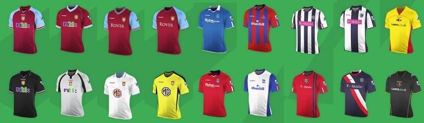 Premier League Diadora kits