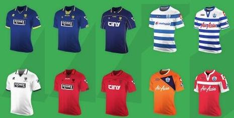 Premier League Lotto kits