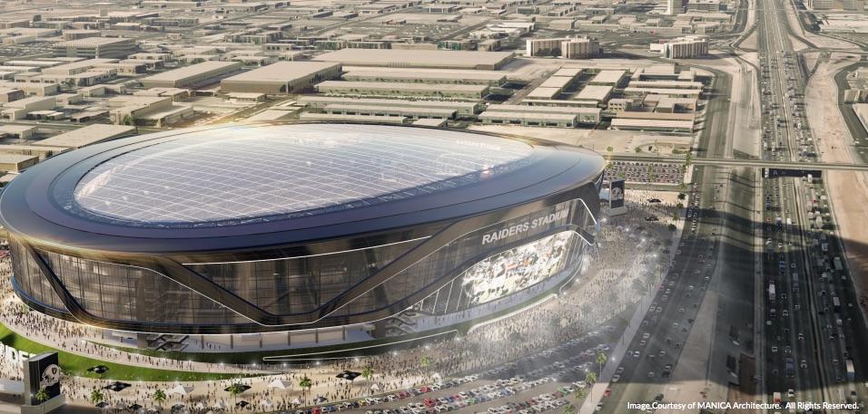 Rendering of proposed stadium.