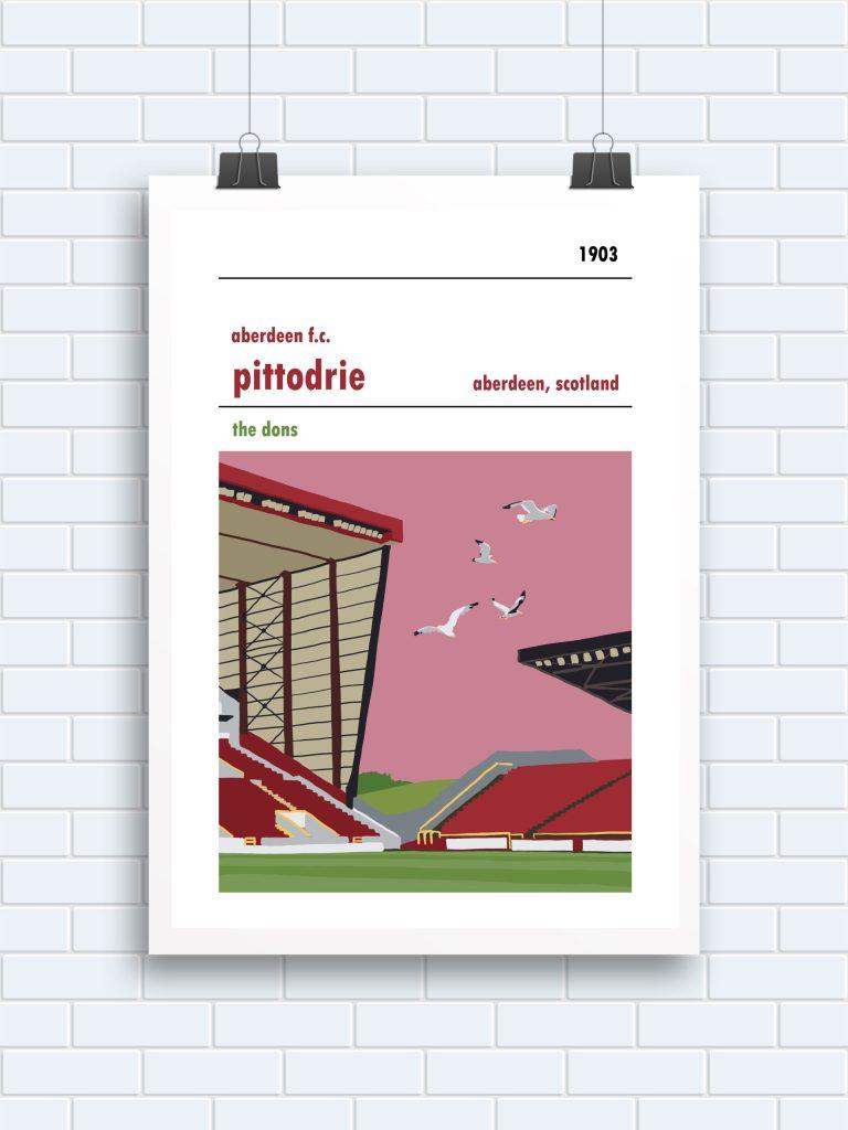 Pittodrie, Aberdeen poster