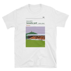 A t shirt of the Shed at Tannadice, home to Dundee United FC