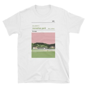 A white t-shirt of Recreation Park and Alloa Athletic FC
