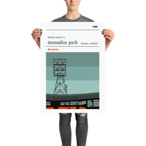 A football print of the Jerry Kerr stand at Tannadice, home to Dundee United. The Terrors.