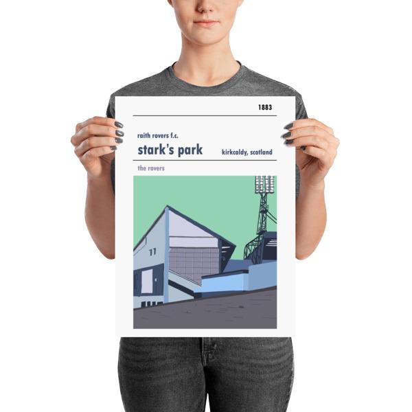 A medium sized football poster of Stark's Park and Raith Rovers FC
