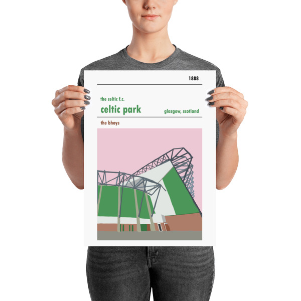 A medium sized Celtic FC poster of the Lisbon Lions stand