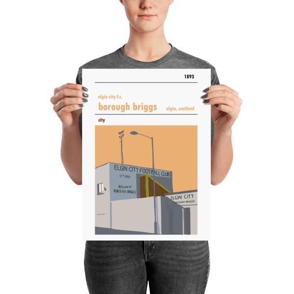A medium football poster of Borough Briggs and Elgin City FC