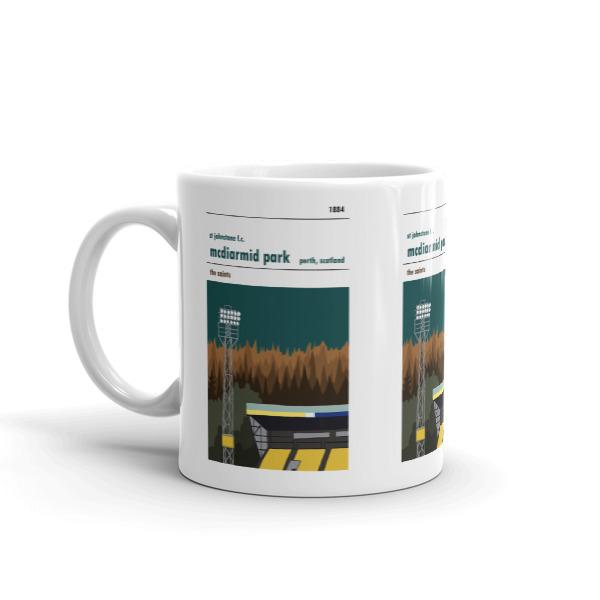 A coffee mug of St Johnstone FC and McDiarmid Park