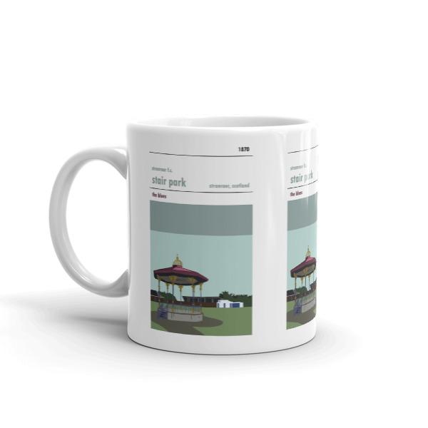 A coffee mug of Stranraer FC and Stair Park