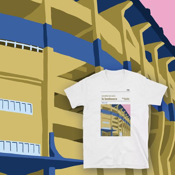 La Bombonera - Boca Juniors - t-shirt blog