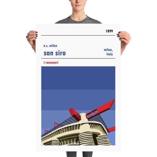 Huge football poster of the San Siro and AC Milan