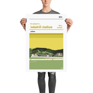 A Retro BSC Glasgow FC and Indodrill Stadium football poster