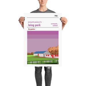 A retro football poster of Carnoustie Panmure and Laing Park