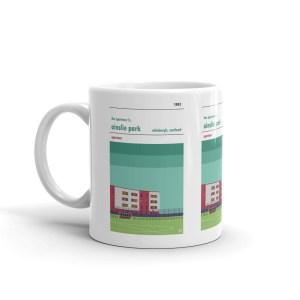 A coffee mug of Spartans FC and Ainslie Park