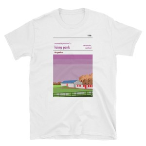 A white t shirt of Carnoustie Panmure and Laing Park