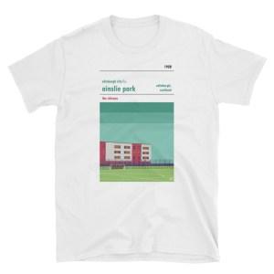 Edinburgh City FC white t shirt of Ainslie Park