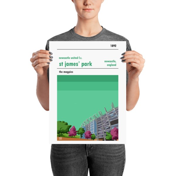 A medium sized football poster of Newcastle United and St James' Park