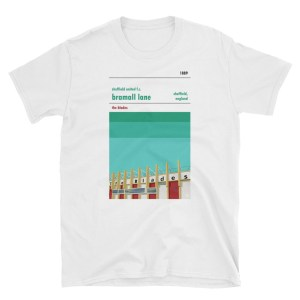 A t-shirt of Bramall Lane, home to the Blades, Sheffield United