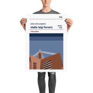 A football poster gift for the Sampdoria fan in your life