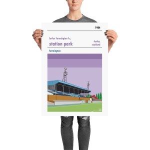 A stadium poster of Station Park and Forfar Farmington FC. Members of the SWPL