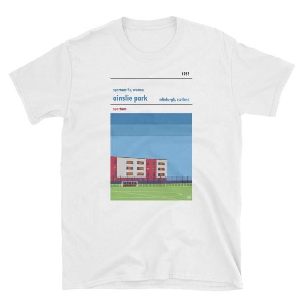 A white t shirt of Spartans Women FC