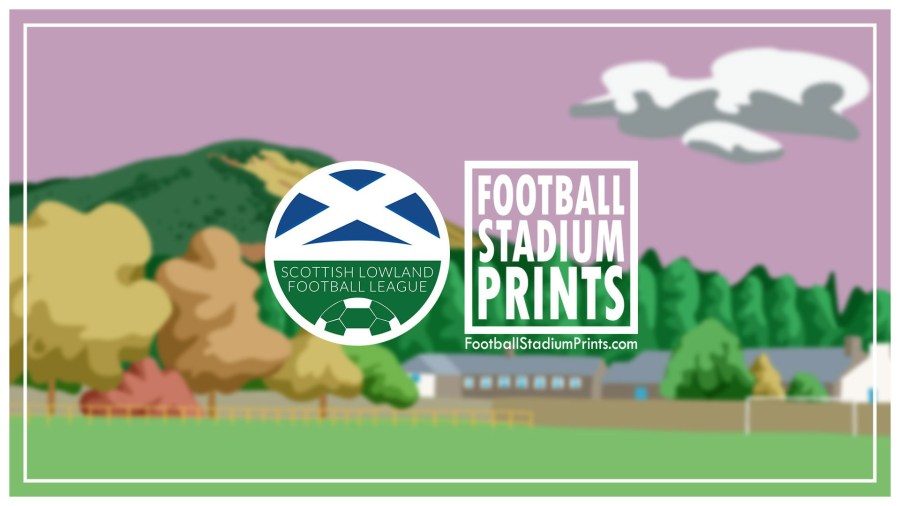 The SLFL and Football Stadium Prints announce a partnership that sees football posters made up of every Lowland League stadium