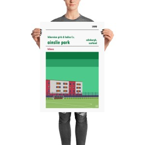 Perfect football poster gift for a Hibs Girls and Ladies fc fan