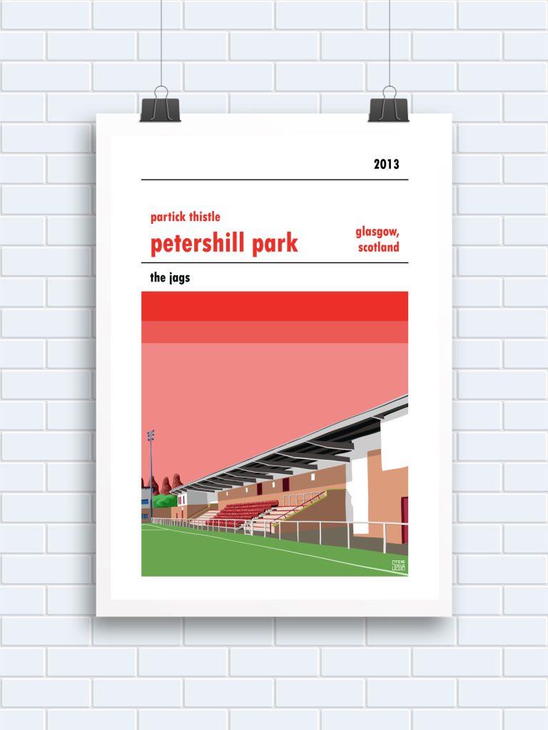 Petershill Partick Thistle print