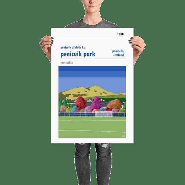 Gorgeous Penicuik Athletic and Penicuik Park football print