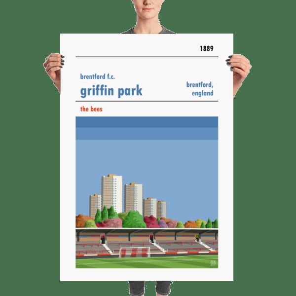 A Huge Brentford FC football poster