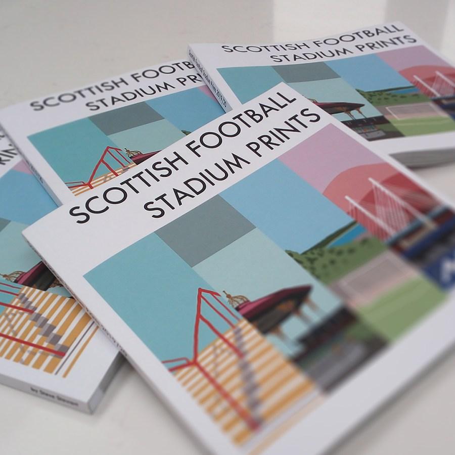 Scottish Football Stadium Prints Book Stack